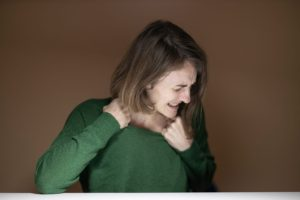 Persistent pain, woman in pain